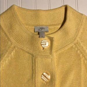 LOFT Sweaters - Loft yellow sweater size small. Like new!
